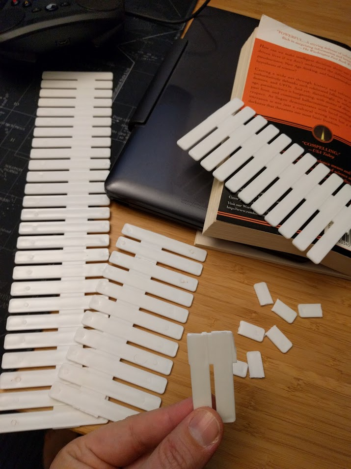 Plastic dividers can easily be resized to fit the need.